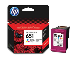Картридж, HP 651 Tri-colour Ink Cartridge, (p/n:C2P11AE#BHK )