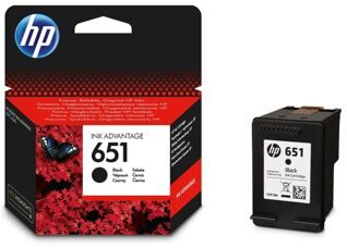 Картридж, HP 651 Black Ink Cartridge, (p/n:C2P10AE#BHK )